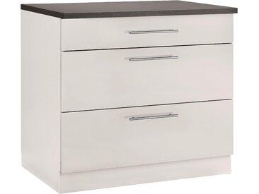 wiho Küchen Unterschrank Cali 90 x 85 60 (B H T) cm beige Unterschränke Küchenschränke Küchenmöbel Schränke