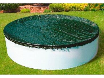 Clear Pool Pool-Abdeckplane Ganzjahresabdeckplane für Rundbecken L: 500 cm schwarz Poolzubehör -reinigung Pools Planschbecken Garten Balkon