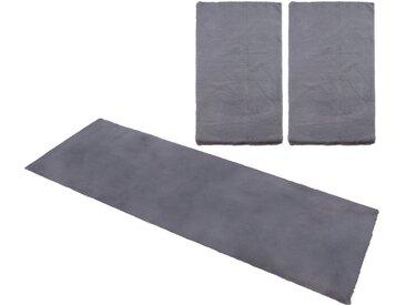 my home Bettumrandung Norton, Kaninchenfell-Haptik B/L (Brücke): 80 cm x 150 (2 St.) (Läufer): 270 (1 St.), rechteckig grau Bettumrandungen Läufer Teppiche