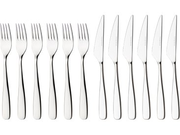nurso Steakbesteck Tuva, (Set, 12 tlg.), Edelstahl 18/10, 12-teilig silberfarben Besteckgarnituren Besteck Messer Haushaltswaren Essesteck-Sets