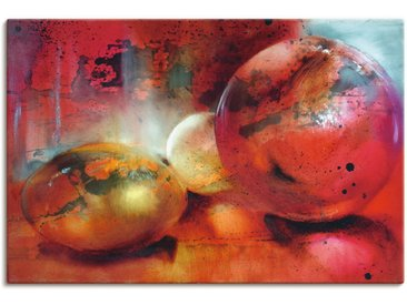 Artland Wandbild Das Glasperlenspiel 120x80 cm, Leinwandbild rot Bilder Bilderrahmen Wohnaccessoires