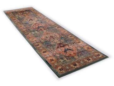 Läufer, Leonie, THEKO, rechteckig, Höhe 10 mm, maschinell gewebt 13, 80x400 cm, mm grün Teppichläufer Läufer Bettumrandungen Teppiche