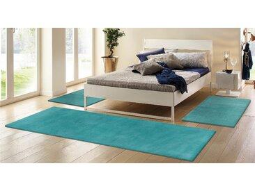 Bettumrandung Jescha My HOME, Höhe 13 mm 14 (2x Brücke 140x70 cm & 1x Läufer 270x70 cm), blau Bettumrandungen Teppiche