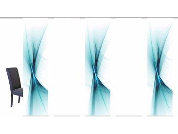 Schiebegardine, OLE, HOME WOHNIDEEN, Klettband 5 Stück 1, H/B: 245/60 cm, blickdicht, grün Blickdichte Vorhänge Gardinen Gardine