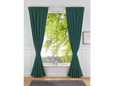 Leonique Vorhang Velvet-Leonique, Samt, inkl. Raffhalter 140 cm, Multifunktionsband, 175 cm grün Wohnzimmergardinen Gardinen nach Räumen Vorhänge