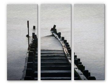 Wall-Art Mehrteilige Bilder Schwarz Weiß Fotografie (Set) 40x0,3 cm bunt Bilderrahmen Wohnaccessoires