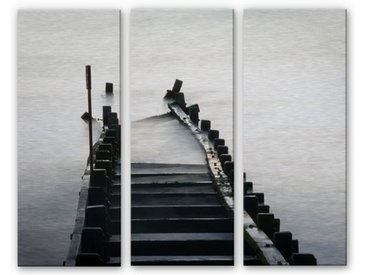 Wall-Art Mehrteilige Bilder Schwarz Weiß Fotografie, (Set, 3 St.) B/H/T: 40 cm x 0,3 100 bunt Bilderrahmen Wohnaccessoires