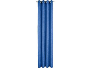 Vorhang, Trondheim 328 g/m², Wirth, Ösen 1 Stück 16, H/B: 255/270 cm, blickdicht / energiesparend, blau Blickdichte Vorhänge Gardinen Gardine