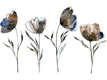 queence Leinwandbild Blumen 120x80 cm bunt Leinwandbilder Bilder Bilderrahmen Wohnaccessoires