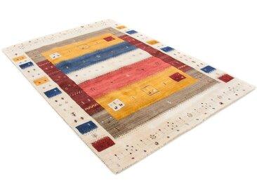 Wollteppich, Gabbeh Soni, carpetfine, rechteckig, Höhe 15 mm, handgewebt 200x290 cm, mm bunt Schurwollteppiche Naturteppiche Teppiche
