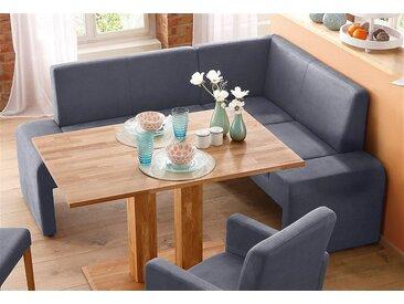 Home affaire Sitzbank Bologna, klein Luxus-Microfaser, Langer Schenkel links grau Eckbänke Sitzbänke Stühle
