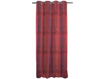 Vorhang, Tudor, APELT, Ösen 1 Stück H/B: 245/140 cm, blickdicht, rot Blickdichte Vorhänge Gardinen Gardine
