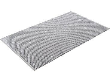 Home affaire Badematte Dalia, Höhe 4 mm, beidseitig nutzbar, Badgarnitur, 100% Baumwolle rechteckig (90 cm x 160 cm), 1 St. grau Einfarbige Badematten