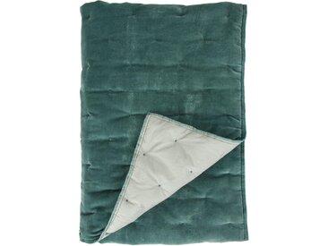 Plaid Velvet Touch, Walra 130x180 cm, Baumwolle-Polyester grün Baumwolldecken Decken Wohndecken