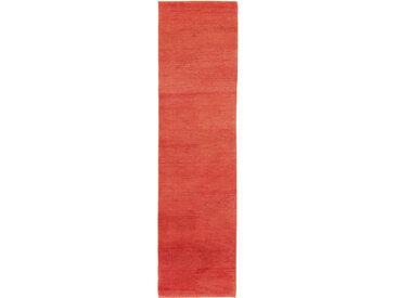 morgenland Läufer GABBEH FEIN FLOWY, rechteckig, 19 mm Höhe, Schurwolle, einfarbig, Wohnzimmer B/L: 80 cm x 300 cm, 1 St. rot Teppichläufer Teppiche und Diele Flur