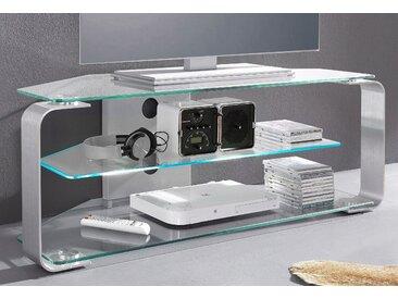 Jahnke TV-Rack CU-MR 105, Breite 114 cm (für TV-Größen bis 50 /127 geeignet) B: cm, Anzahl silberfarben TV-Racks und TV-Regale TV- Möbel Mediamöbel