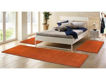 Theko Exklusiv Bettumrandung Gabbeh uni B/L (Brücke): 70 cm x 140 (2 St.) (Läufer): 320 (1 St.), rechteckig orange Bettumrandungen Läufer Teppiche