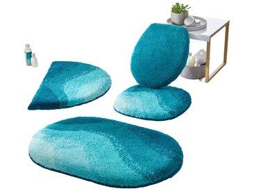 Grund Badeteppich 1 60x90 cm, blau Badematten Sofort lieferbar Badezimmer SOFORT LIEFERBARE Möbel Teppiche, bunt