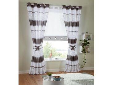Vorhang, Maria, my home, Ösen 2 Stück 4, H/B: 245/144 cm, halbtransparent, grau Gardinen nach Aufhängung Vorhänge Gardine