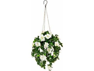 Kunstpflanze Petunien Hängeampel 66 cm 0, 28x12x66 weiß Kunstpflanzen Pflanzen Garten Balkon