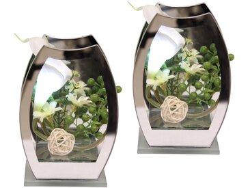 Kunstpflanze LED-Calla (Set, 2 Stück) 11x7x15 cm weiß Kunstblumen Kunstpflanzen Wohnaccessoires