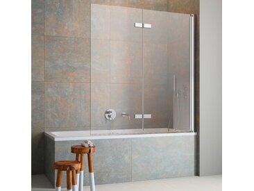 maw Badewannenfaltwand FL8400, mit Antikalk-Versiegelung Einheitsgröße silberfarben Duschwände Duschen Bad Sanitär