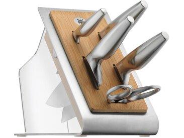 WMF Messerblock mit Messerset 6tlg. Spezialklingenstahl geschmiedet Chef's Edition 6-tlg. silberfarben Küchenmesser-Sets Besteck Messer Haushaltswaren