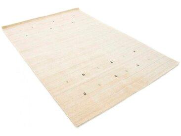 Wollteppich, Gabbeh Uni, carpetfine, rechteckig, Höhe 15 mm, handgewebt 240x340 cm, mm weiß Gewebte Teppiche Orientteppich
