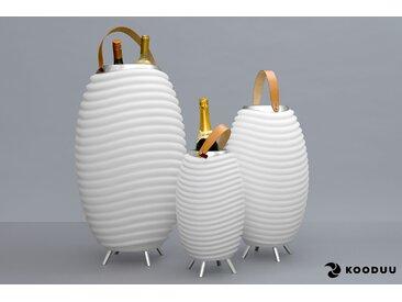 KOODUU,LED Stehlampe Synergy S 1 St., Ø41 cm / H:71,5 weiß Außenstandleuchten Außenleuchten Lampen Leuchten