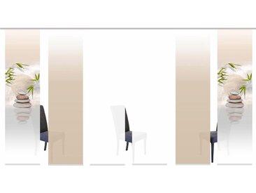 Schiebegardine, BUDA, HOME WOHNIDEEN, Klettband 6 Stück 0, H/B: 245/60 cm, blickdicht, beige Blickdichte Vorhänge Gardinen Gardine