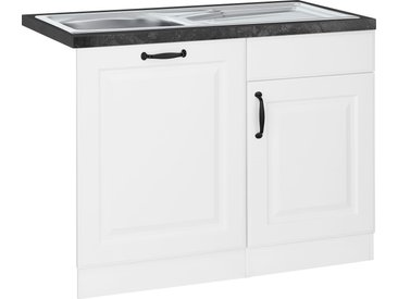 wiho Küchen Spülenschrank Erla 110 x 85 60 (B H T) cm, 2-türig weiß Spülenschränke Küchenschränke Küchenmöbel Schränke
