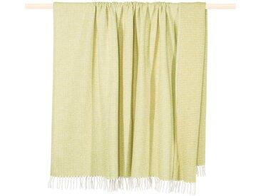 Wohndecke CLASSIC, PAD 150x200 cm, Baumwolle-Kunstfaser grün Baumwolldecken Decken Wohndecken