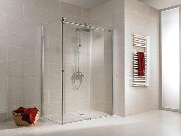 Schulte Eckdusche MasterClass, mit Schiebetür Einheitsgröße silberfarben Duschkabinen Duschen Bad Sanitär