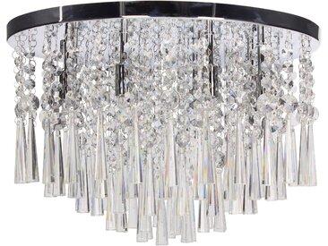 SPOT Light Deckenleuchte LUXORIA, G9, Warmweiß, Hochwertige Leuchte mit echtem Kristallen, LED-Leuchtmittel inklusive, Zeitlos und elegant. 8 flg., Ø 45 cm Höhe: 30,5 farblos Deckenleuchten SOFORT LIEFERBARE Lampen Leuchten