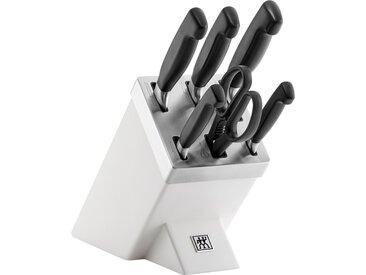 Zwilling Messerblock ****Vier Sterne (7tlg.) Einheitsgröße weiß Küchenmesser-Sets Besteck Messer Haushaltswaren Messerblöcke