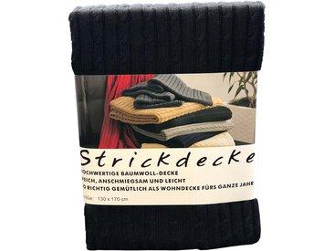 Plaid grace grand spa 130x170 cm, Baumwolle schwarz Baumwolldecken Decken Wohndecken
