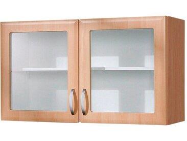 wiho Küchen Glashängeschrank Prag, Breite 100 cm x 56,5 35 (B H T) beige Hängeschränke Küchenschränke Küchenmöbel Schränke