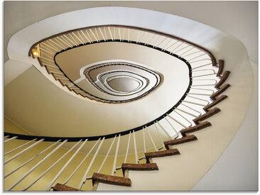 Artland Glasbild Treppe - Wendeltreppe, Architektonische Elemente, (1 St.) B/H/T: 80 cm x 60 1,1 cm, beige Glasbilder Bilder Bilderrahmen Wohnaccessoires