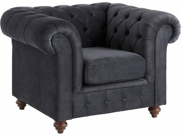 Premium collection by Home affaire Sessel Chesterfield Luxus-Microfaser, B/H/T: 105 cm x 74 89 grau