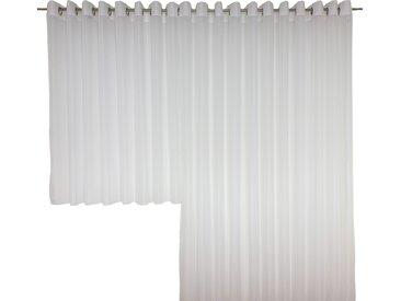 Wirth Vorhang SALLY, Store 245 cm, Ösen, 600 cm weiß Wohnzimmergardinen Gardinen nach Räumen Vorhänge