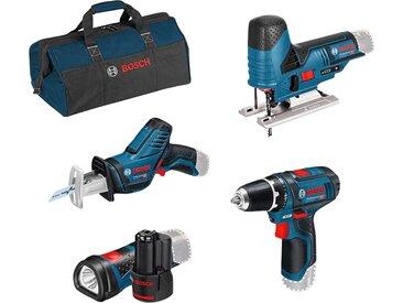 Bosch Professional Akku-Schrauber, mit 3 Werkzeugen, Akkus, Ladegerät und Werkzeugtasche Einheitsgröße blau Akkuschrauber Werkzeug Maschinen Akku-Schrauber
