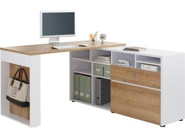 Maja Möbel Eckschreibtisch 4021 Tischplatte: Holzwerkstoff, Gestell: Holzwerkstoff weiß Eckschreibtische Bürotische und Schreibtische Büromöbel Tisch