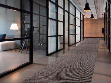 Primaflor-Ideen in Textil Läufer MAGNUM, rechteckig, 10,5 mm Höhe, Schmutzfangläufer, Schmutzfangteppich, Schmutzmatte, robust und pflegeleicht 200x550 cm, beige Teppichläufer Teppiche Diele Flur