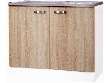 OPTIFIT Spülenschrank Padua 100 x 84,8 60 (B H T) cm, 2-türig beige Spülenschränke Küchenschränke Küchenmöbel Schränke