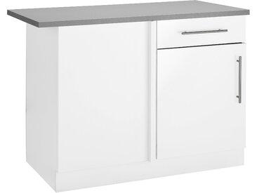 wiho Küchen Eckunterschrank Cali 110 x 85 60 (B H T) cm, 1-türig weiß Unterschränke Küchenschränke Küchenmöbel Schränke