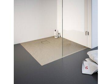 Schulte Duschwanne, quadratisch, BxT: 1000 x mmquadratisch, mm, mit Steinstruktur Einheitsgröße beige Duschwannen Duschen Bad Sanitär