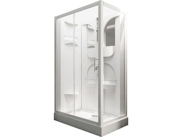 Schulte Komplettdusche, mit Schiebetür Einheitsgröße weiß Duschkabinen Duschen Bad Sanitär