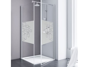 Schulte Eckdusche Alexa Style 2.0, mit Drehtür Einheitsgröße silberfarben Duschkabinen Duschen Bad Sanitär