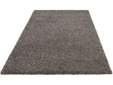 andas Hochflor-Teppich Shaggy Melange, rechteckig, 50 mm Höhe, mit Melange-Effeckt, Wohnzimmer B/L: 160 cm x 230 cm, 1 St. grau Esszimmerteppiche Teppiche nach Räumen