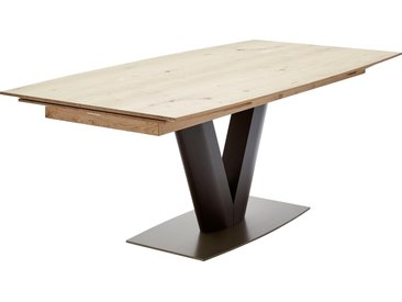 GWINNER Esstisch Anzio Tischplatte: Furnier, Gestell: MDF braun Ausziehbare Esstische Tische Tisch